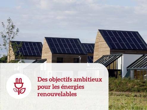 Des objectifs ambitieux pour les énergies renouvelables